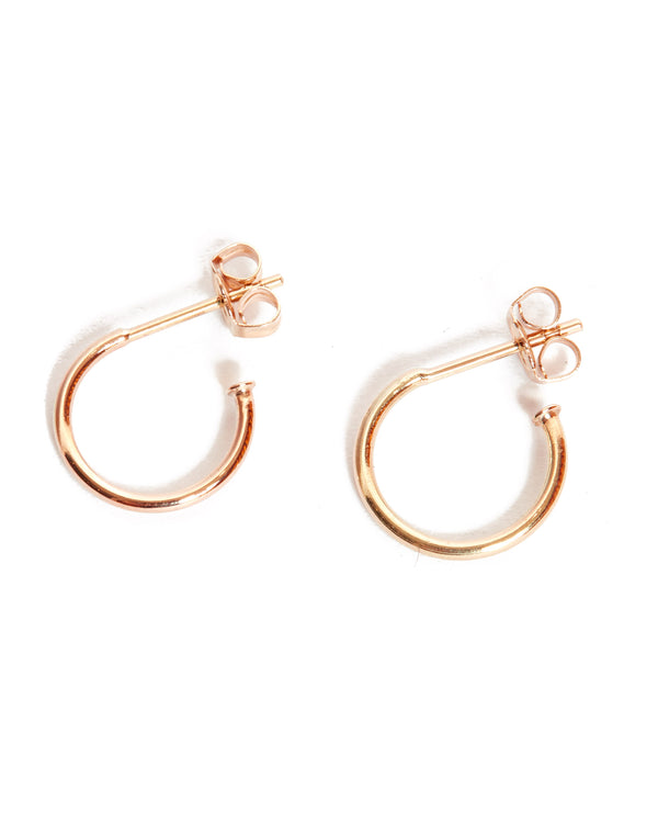 Mini Hoops - 9ct Rose Gold