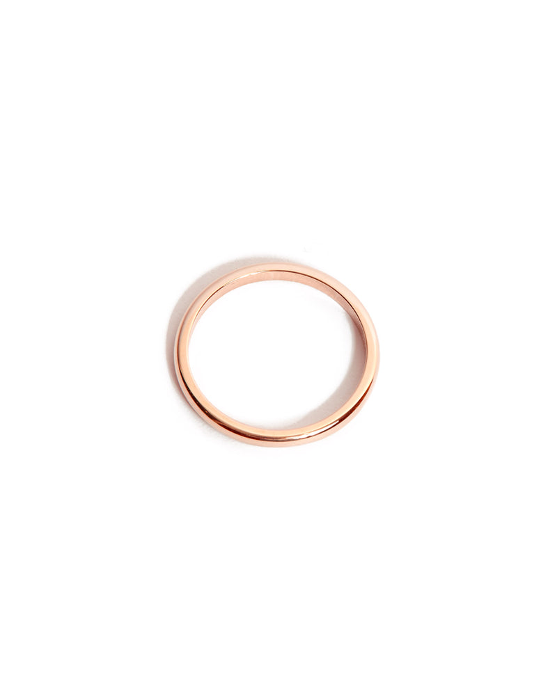 Half Round Ring 2mm - 14ct Rose Gold