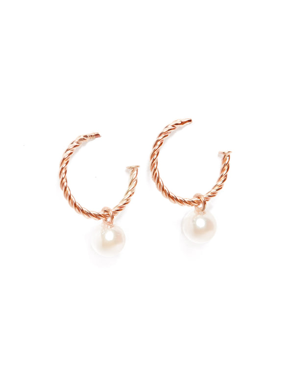 Helix Nymph Pearl Drops - 9ct Rose Gold