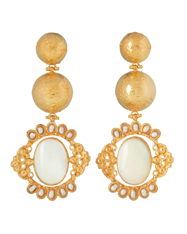Paloma Earrings Pearl