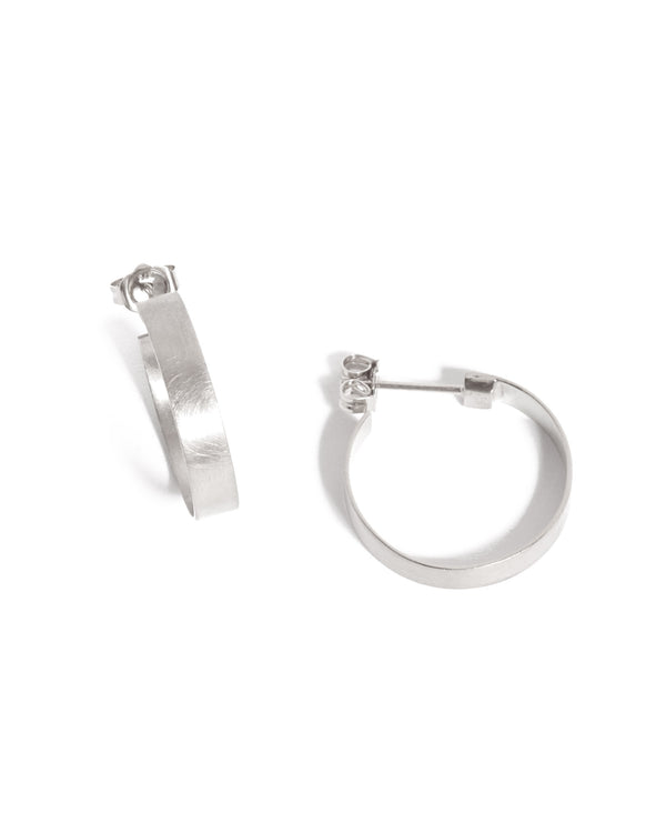 Frida Hoops (Brushed) - Silver