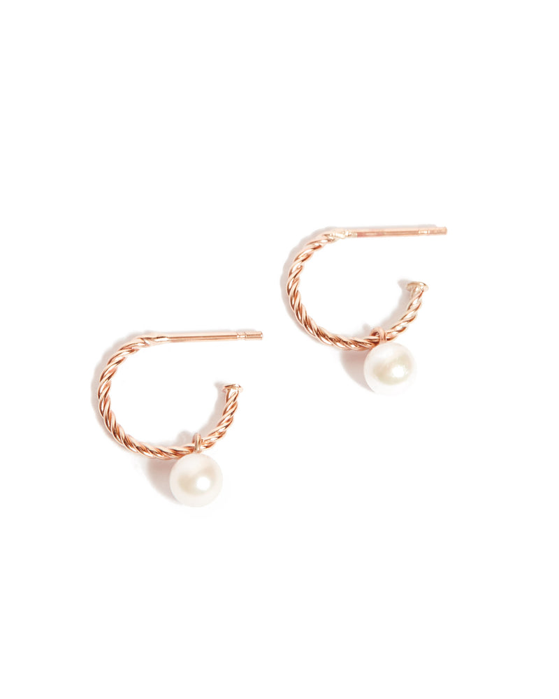 Helix Nymph Pearl Drop - 9ct Rose Gold