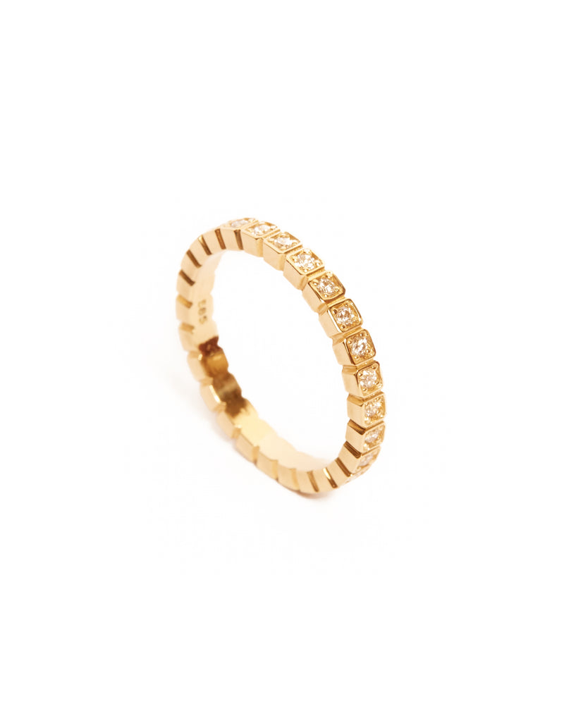 Deco Diamond Ring - 14ct Gold