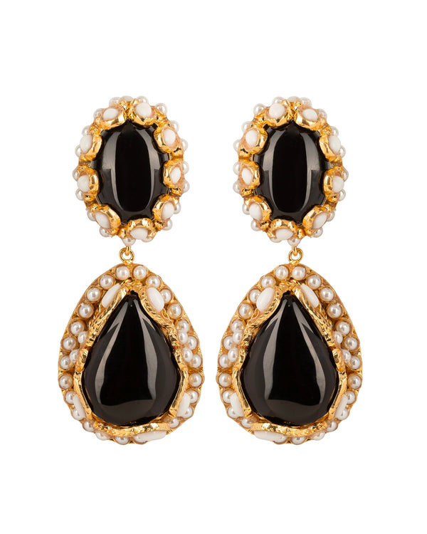 Macarena Earrings Black