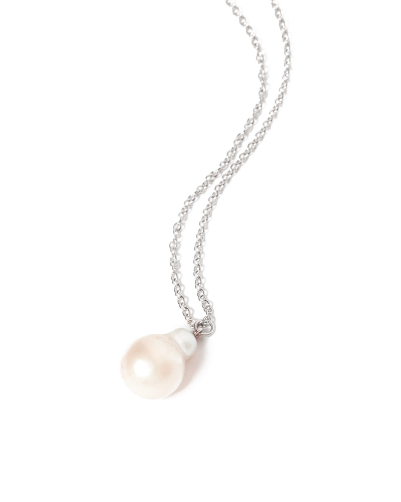 Siren Pearl Necklace - Silver