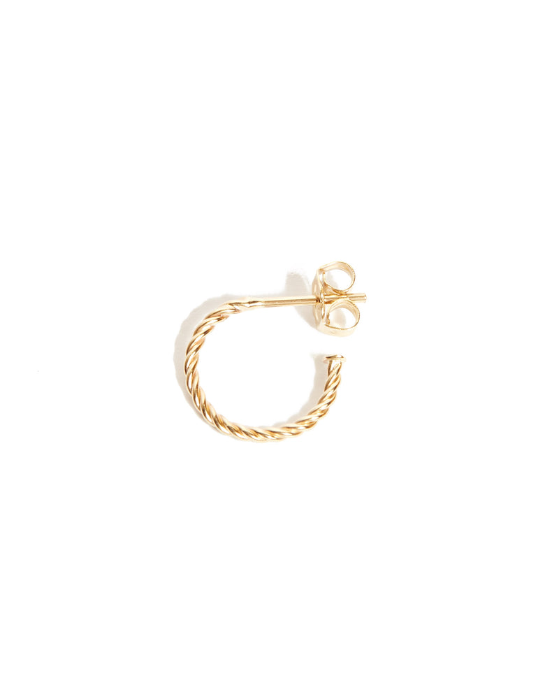 Helix Mini Hoops - 9ct Gold