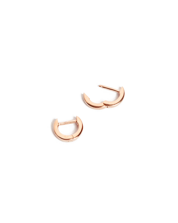 Square Huggie Extra Small - 9ct Rose Gold