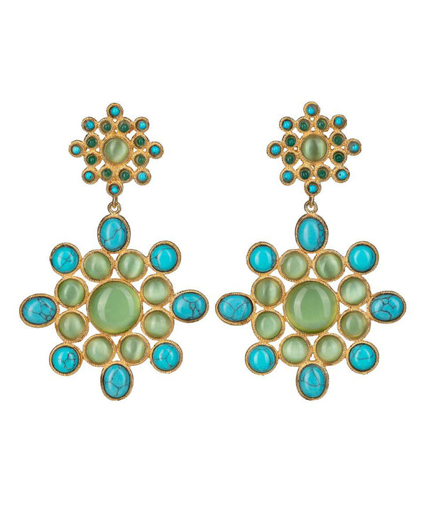 Ursula Earrings Green