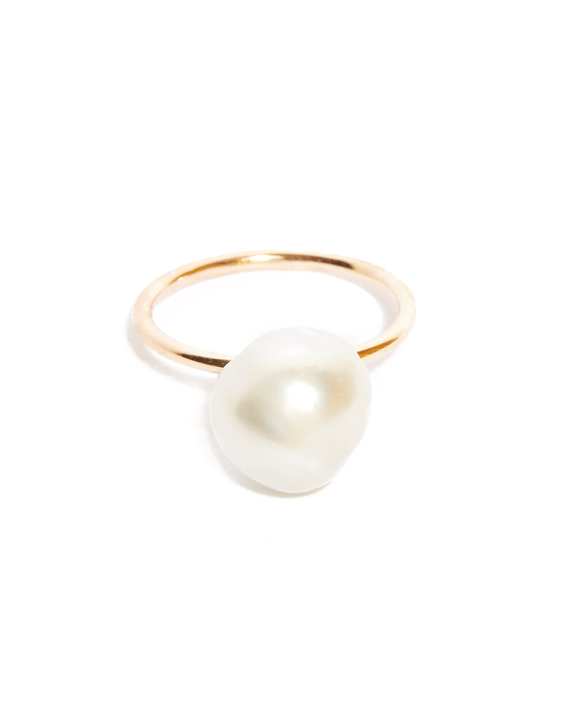 Siren Pearl Ring - 9ct Gold