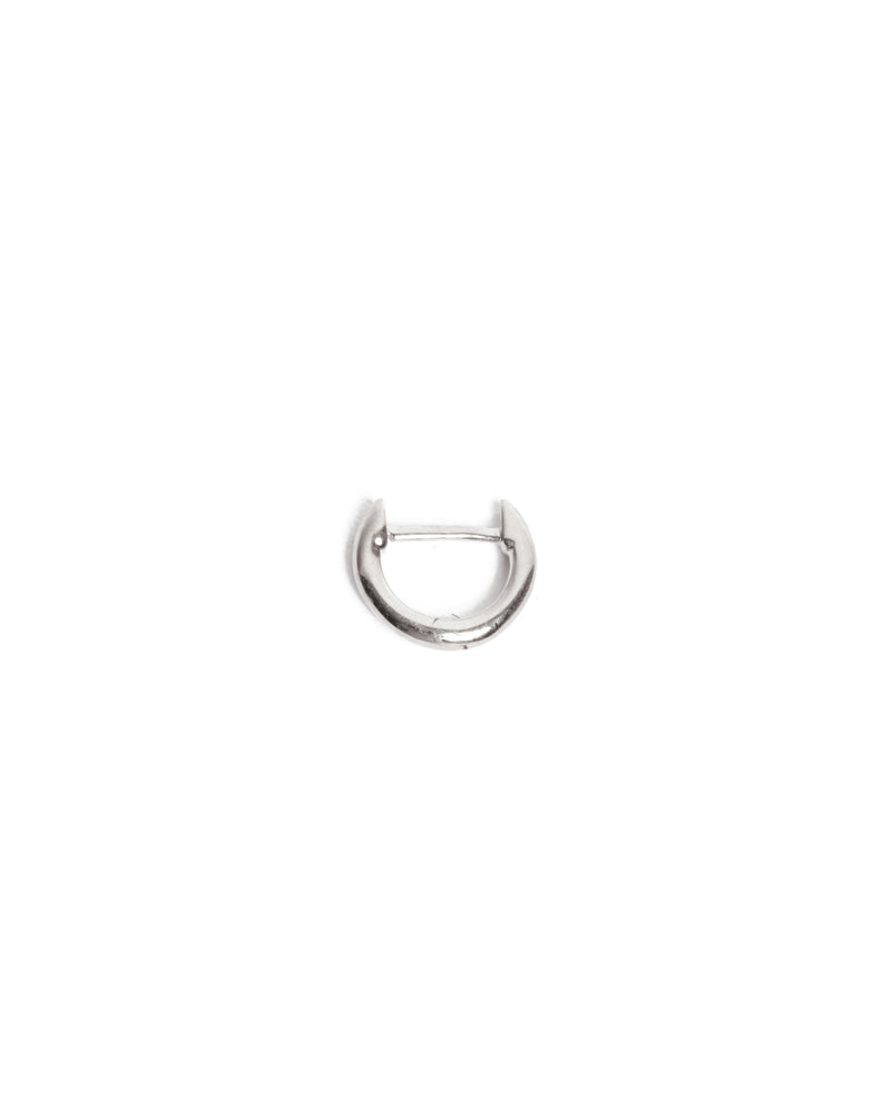 Round Huggie Extra Small - 9ct White Gold
