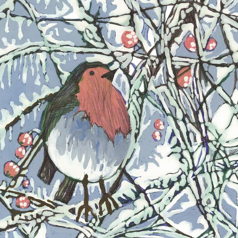 Christmas Card, Robin
