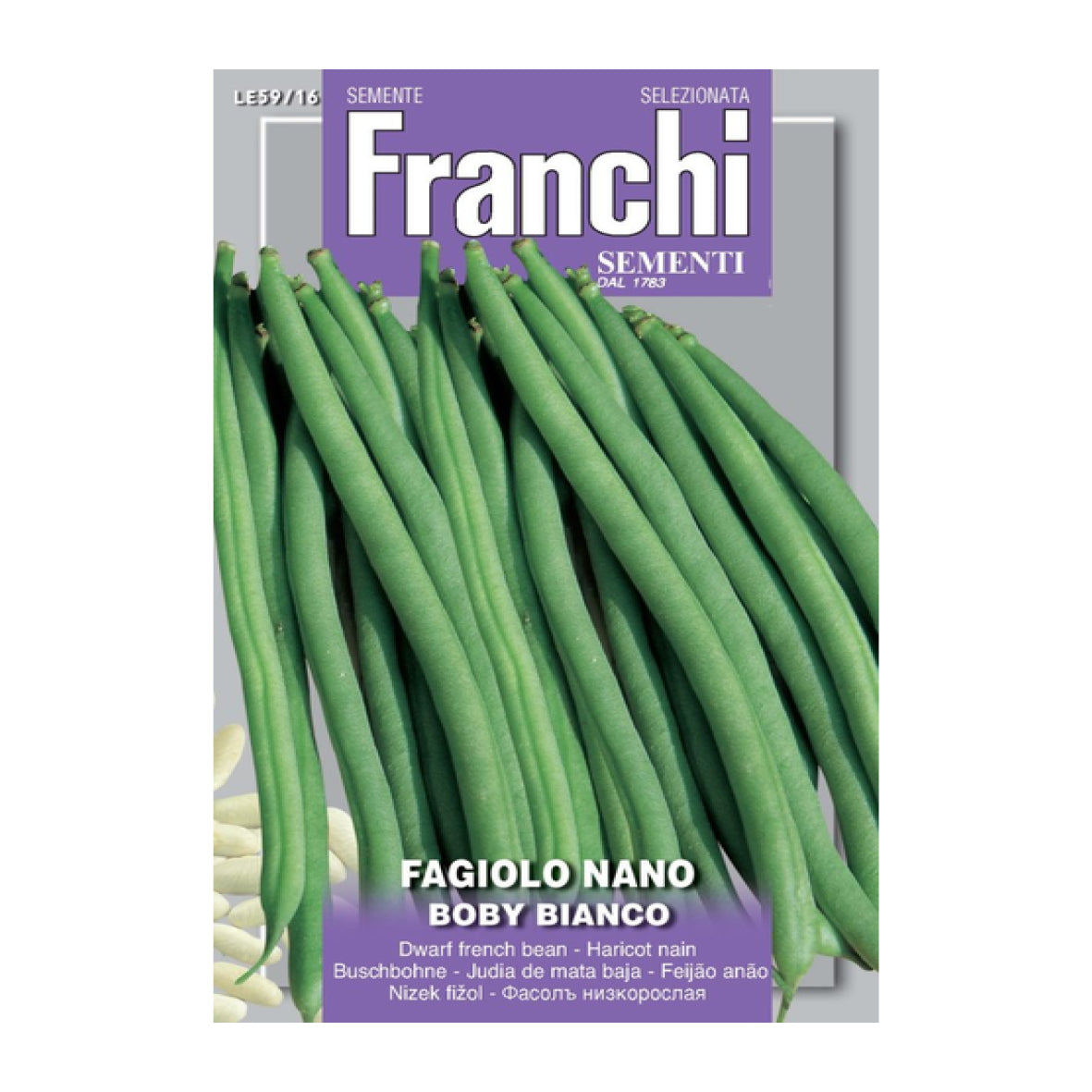 Seeds, Dwarf French Bean - Fagiolo nano boby bianco