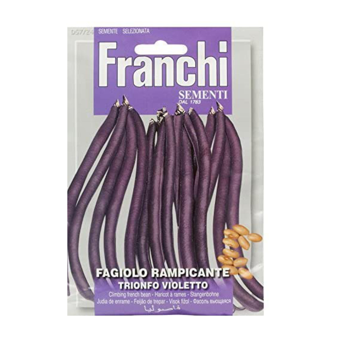Seeds, French Bean - Fagiolo rampicante trionfo violetto