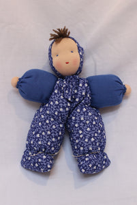 Waldorf Dalehead Doll, Blue Fabric