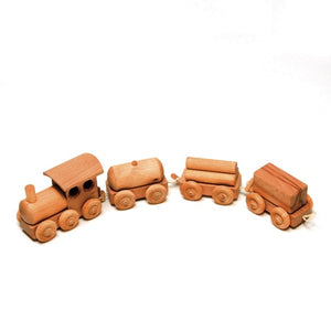 Wooden Freight Train