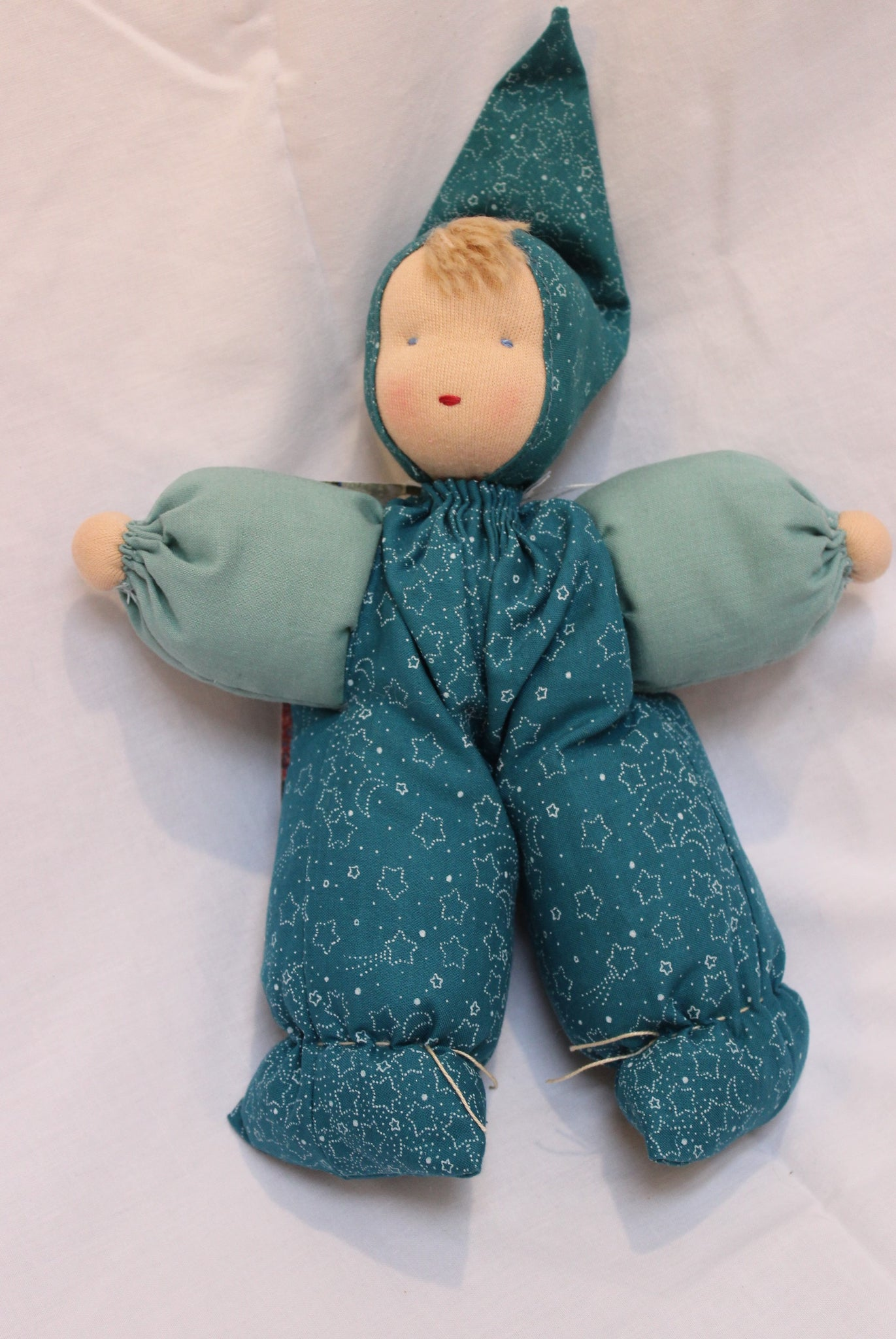 Waldorf Dalehead Doll, Green Fabric