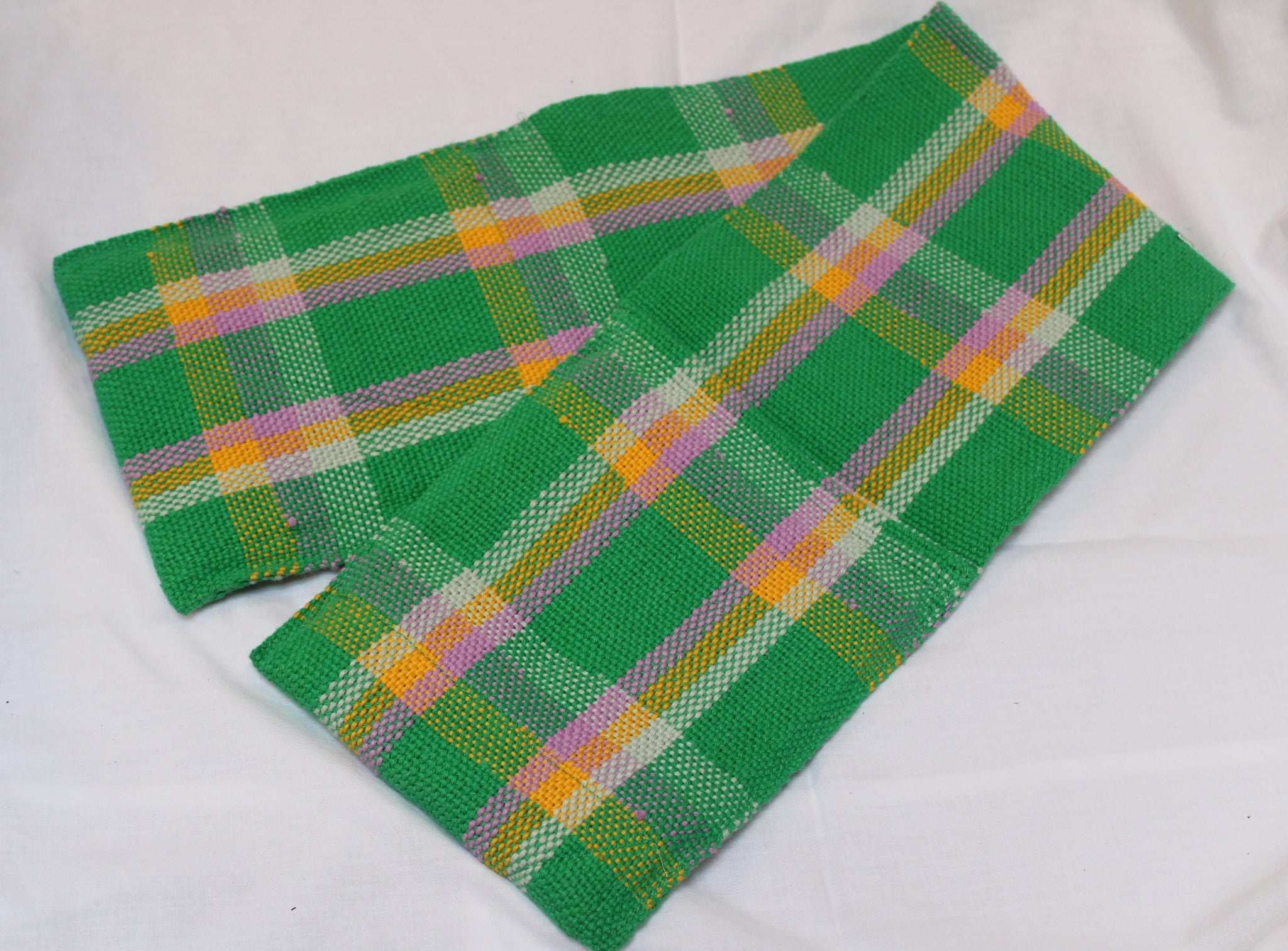 Oven Gloves, Green Check