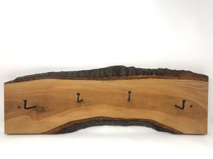 Natural wood Coat/ Key rack