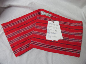 Oven Gloves, Red and Navy Stripe