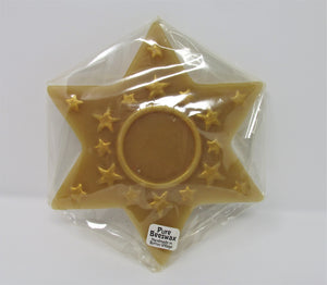 Flat Star 100% Beeswax