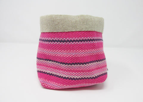 Woven Pouch, Pink