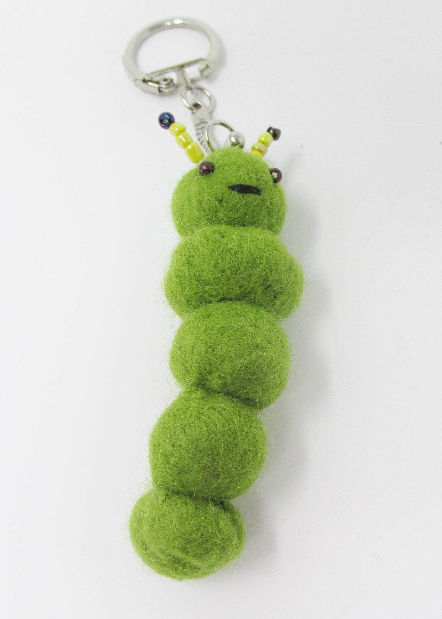 Key Ring, Caterpillar, Organic Pure Wool