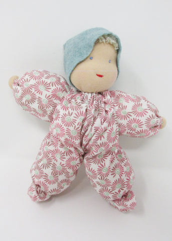 Waldorf Poppet Doll, Pink and Green