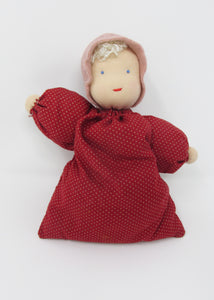 Waldorf Babette Doll, Red Spot Fabric