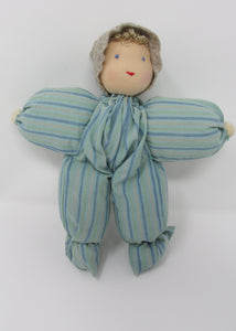 Waldorf Poppet Doll, Green Stripe