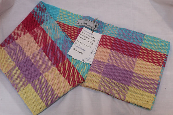 Oven Gloves, Pastel Multi-coloured Check