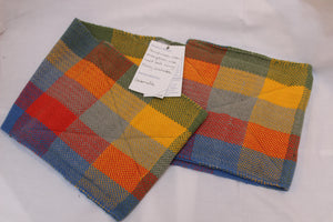 Oven Gloves, Bright Multi-coloured Check