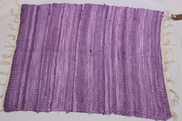 SALE 50% off at Checkout - Rug, Hand Woven, Lilac