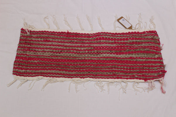 SALE 50% off at Checkout - Table Runner, Hand Woven, Pink and Brown