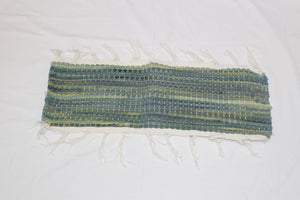 SALE 50% at Checkout - Table Runner, Hand Woven, Soft Green