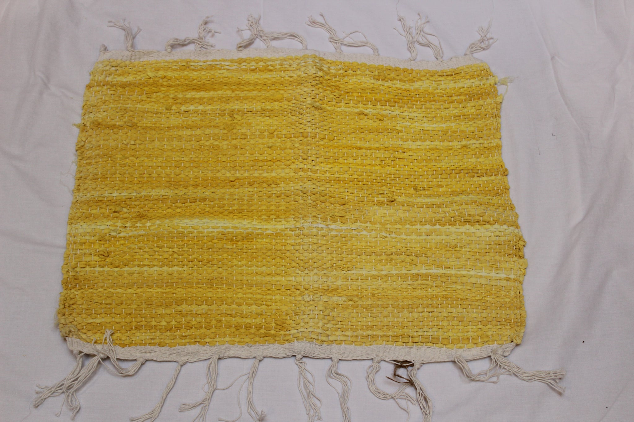 SALE 50% off at Checkout - Rug, Hand Woven, Yellow