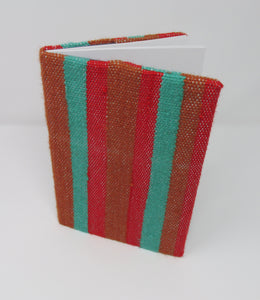 Book Jacket, Woven Red, Green, Brown