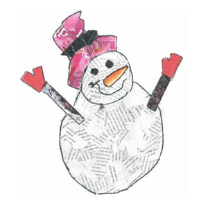 Christmas Card, Snowman Collage