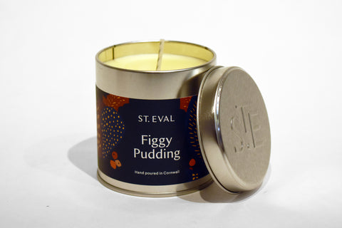 St Eval Figgy Pudding Tin Candle