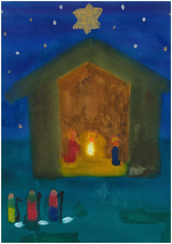 Christmas Cards, The Manger and Three Kings