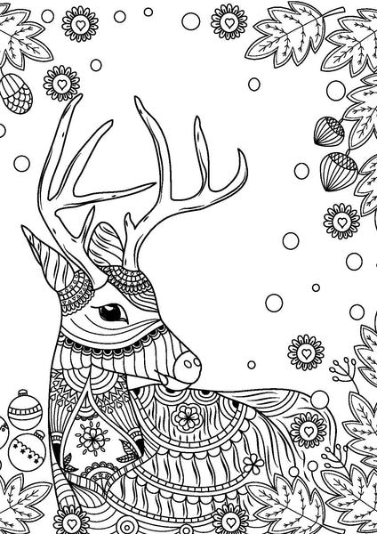 Colouring Book, Christmas Mindful Illustrations
