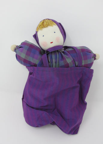 Waldorf Doll, Organic Danby Doll with Sleeping Bag