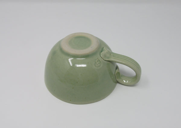 Cup and Saucer, Pale Green