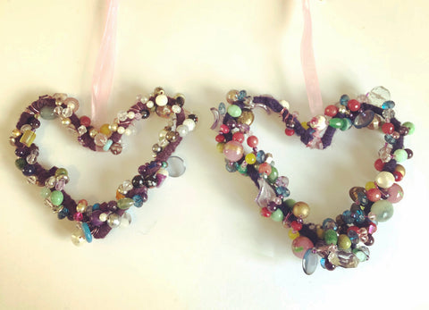 Love heart wall hangings