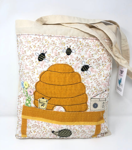 ' Bee happy' Bag and cushion
