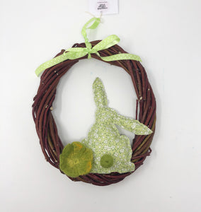 Woven Willow Easter wreath