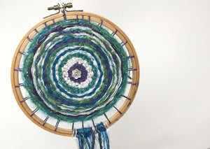 Woven hoop dream catcher