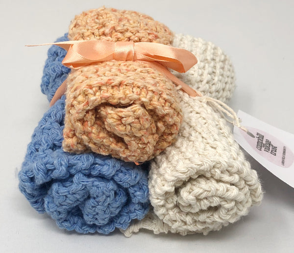 Set of 3 knitted dish clothes