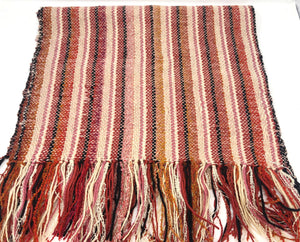 Orange and pink bed runner