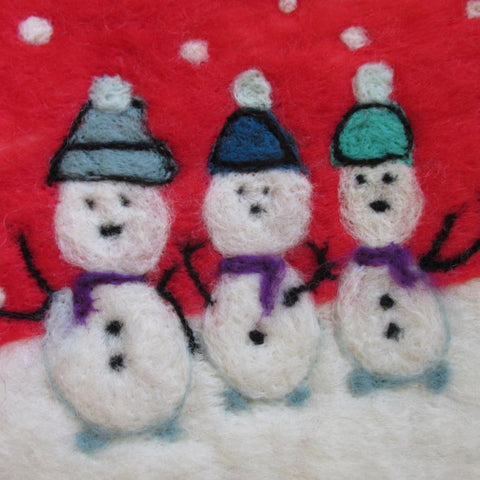 Christmas Card, Trio of Snowmen