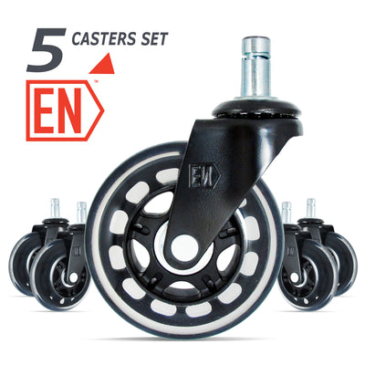 5 WHEELL CASTERS SET FOR HERMAN MILLER AERON CAIR
